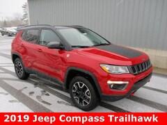 New 2019 Jeep Compass TRAILHAWK 4X4 Sport Utility 3C4NJDDB4KT647481 for sale in cadillac mi