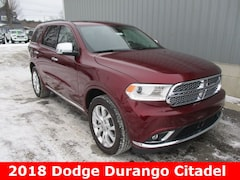 New 2018 Dodge Durango CITADEL AWD Sport Utility 1C4RDJEG5JC456602 for sale in cadillac mi