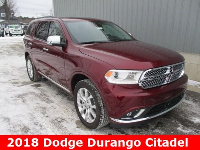 New 2018 Dodge Durango CITADEL AWD Sport Utility in Cadillac, MI