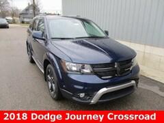 New 2018 Dodge Journey CROSSROAD AWD Sport Utility 3C4PDDGG0JT528235 for sale in cadillac mi