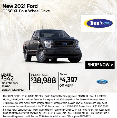 New 2021 Ford F-150 XL