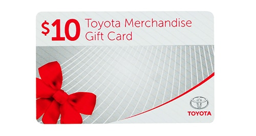When you purchase any TRD or non-TRD part during the sale period, you will receive a receive a complimentary $10 Toyota Gift Card. It just our way of thanking you for your time. ^^