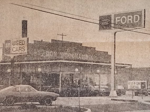 Woodhams Ford dealership 1972