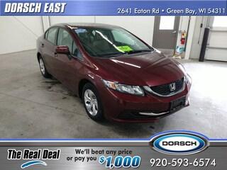Bargain used vehicle 2014 Honda Civic LX Sedan for sale in Green Bay, WI