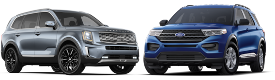 Compare The Ford Explorer To The Kia Telluride In Green Bay