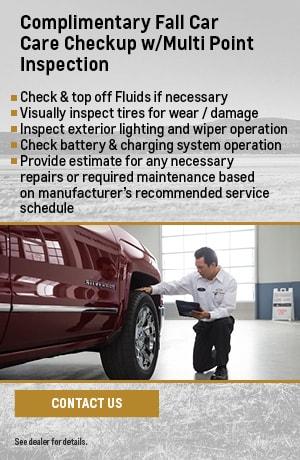 Complimentary Fall Car Care Checkup