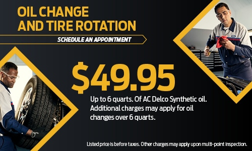 Oil Change nd Tire Rotation