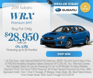 May 2019 WRX Offer