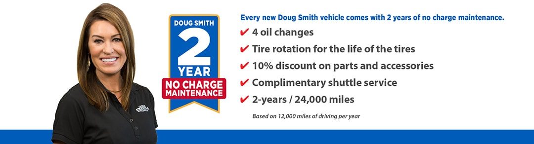 2 Year No Charge Maintenance on Every New Vehicles at Doug Smith CDJR Dealer in Utah