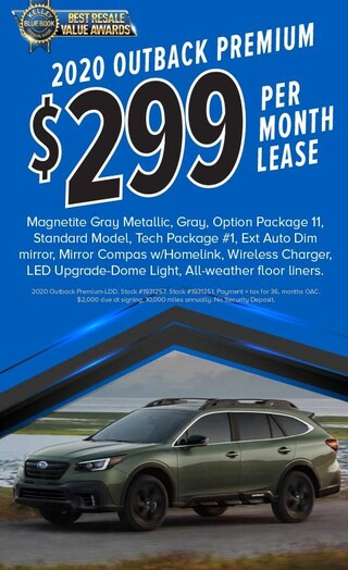 $299/mo Lease on 2020 Outback Premium