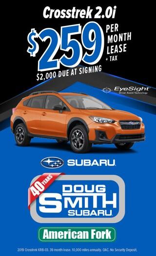 $259 /mo Lease on 2019 Subaru Crosstrek 2.0i