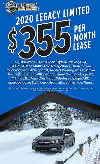 $355/mo Lease on 2020 Legacy Limited