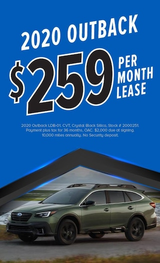 $259/mo Lease on 2020 Outback
