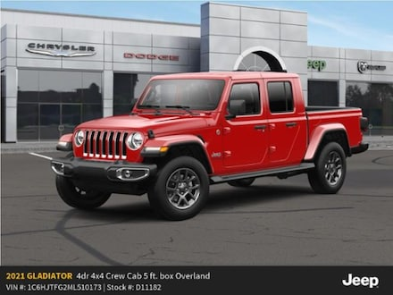 New 2021 Jeep Gladiator OVERLAND 4X4 Crew Cab For Sale in East Hanover, NJ