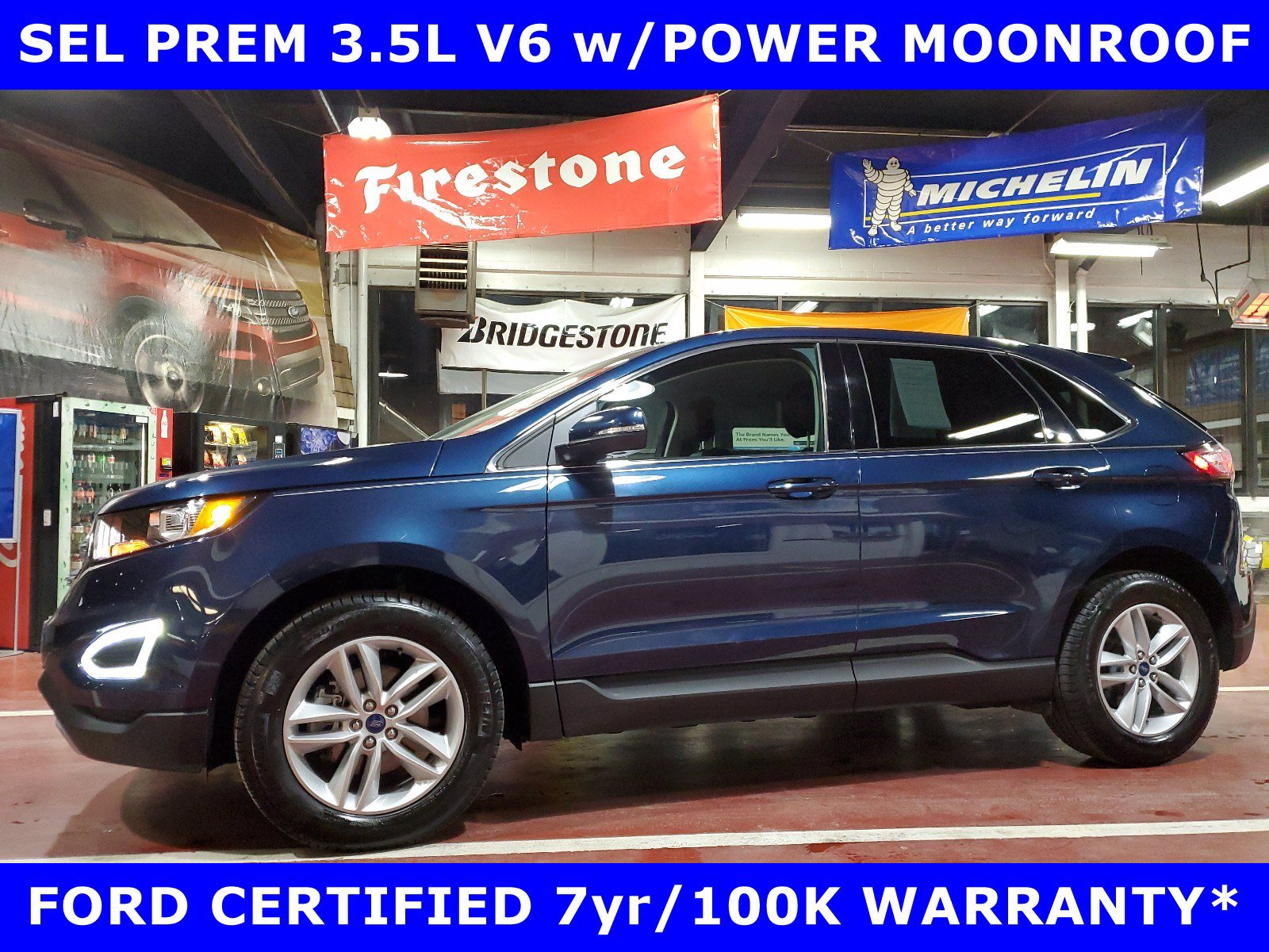 2017 Ford Edge SEL 3.5L V6 w/MOON-Htd LEATHER SUV