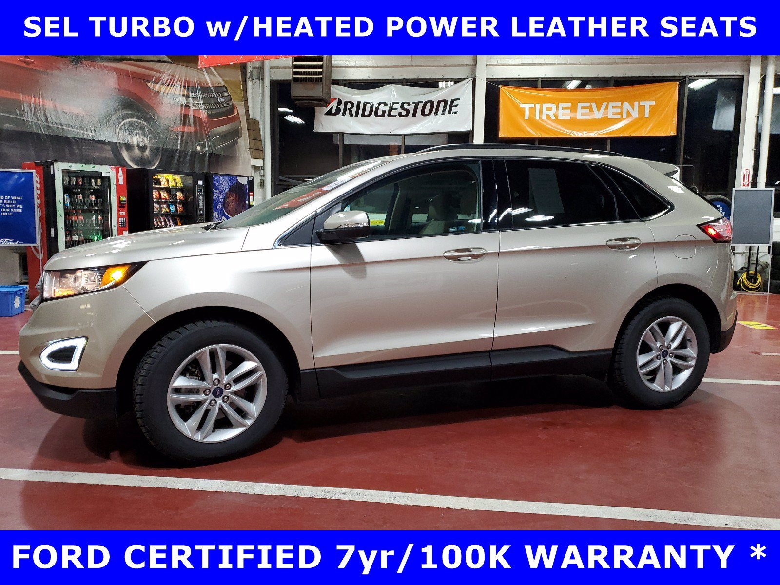 2018 Ford Edge CERTIFIED SEL TURBO w/Htd Pwr LEATHER SUV