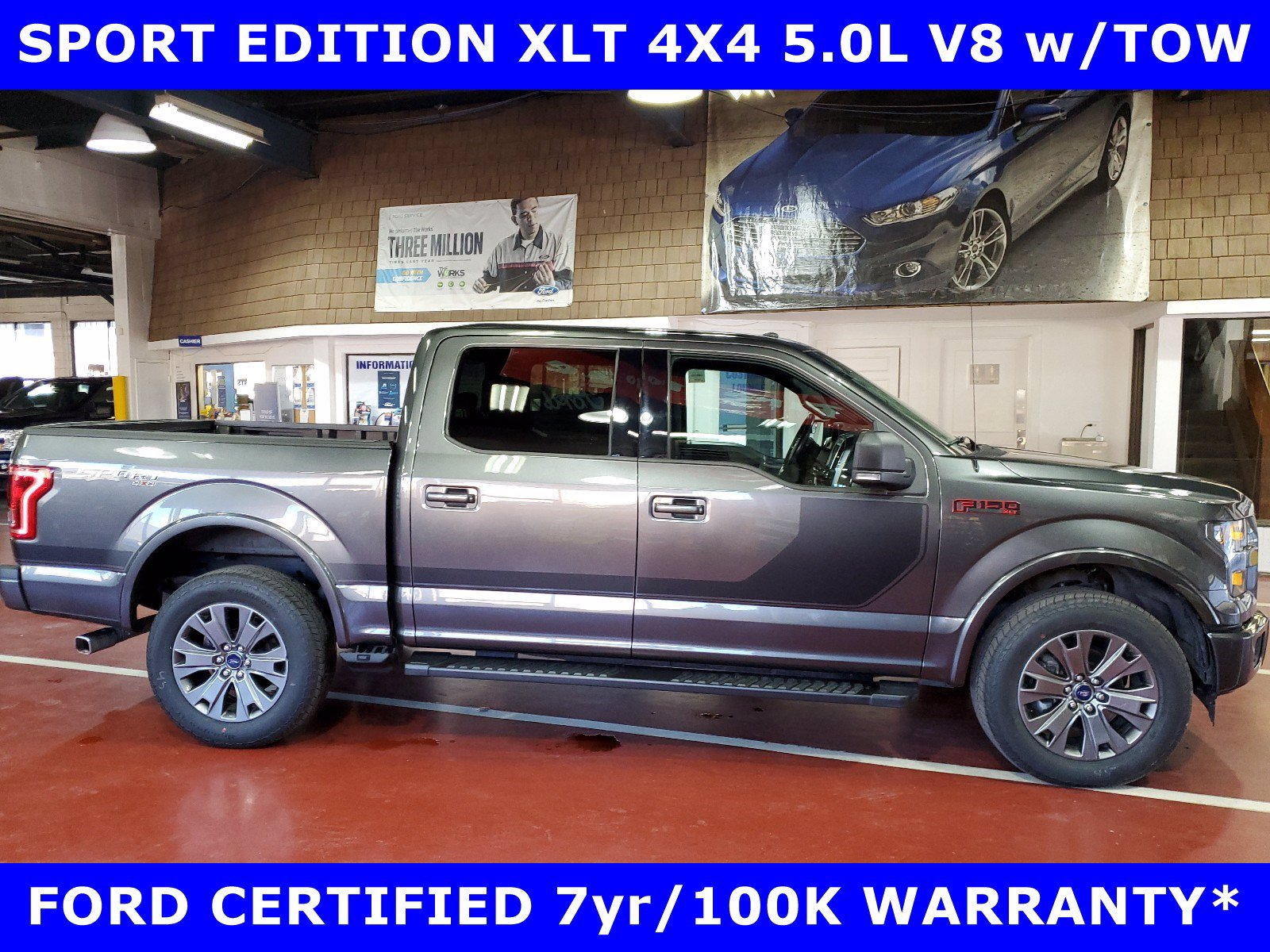 2017 Ford F-150 CERTIFIED SPORT XLT 4X4 5.0L V8 w/BLACK EDITION-TO Truck SuperCrew Cab