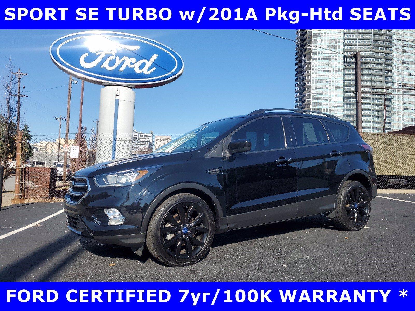 2017 Ford Escape SPORT SE TURBO w/19in BLACK ALLOYS SUV