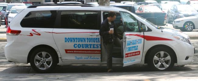 Downtown Toyota of Oakland Shuttle