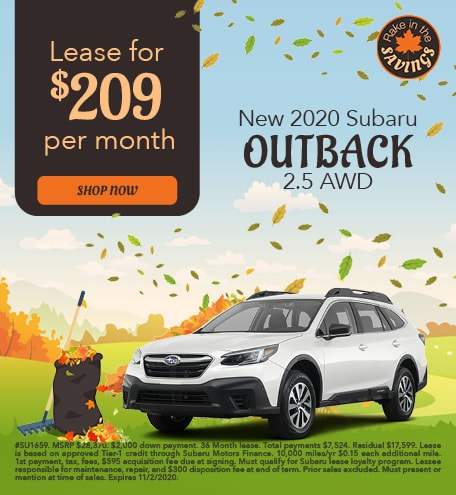 New 2020 Subaru Outback - October