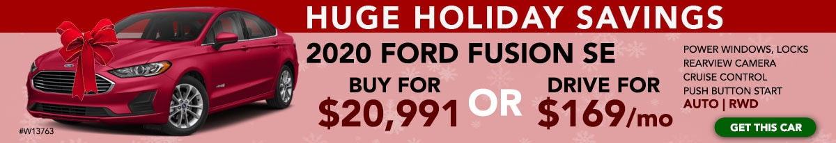 Ford Fusion Black Friday, Cyber Monday, Christmas, Holiday Offer in Evansville Indiana