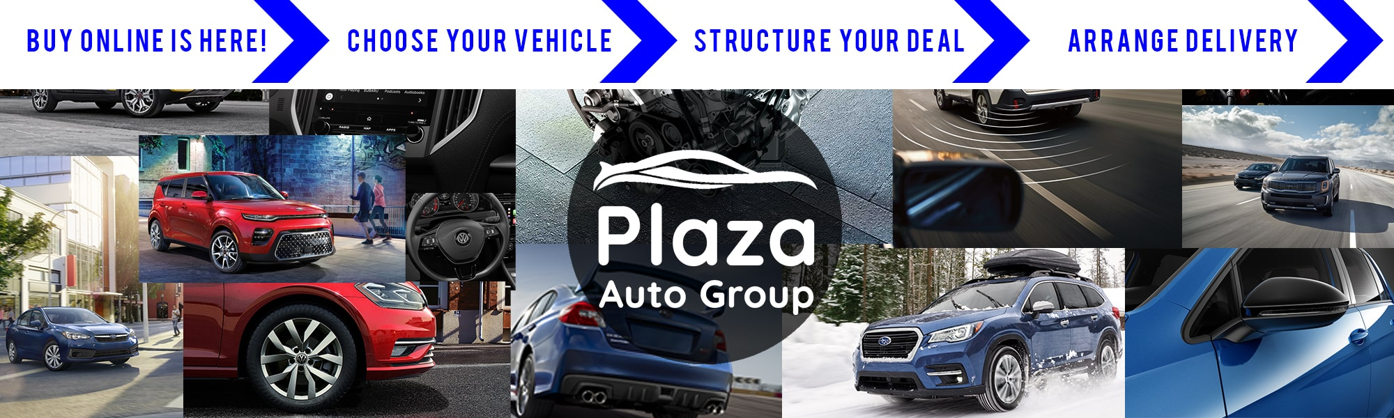 New Subaru Kia, Volkswagen & Subaru Vehicles at Plaza Auto Group Dealerships