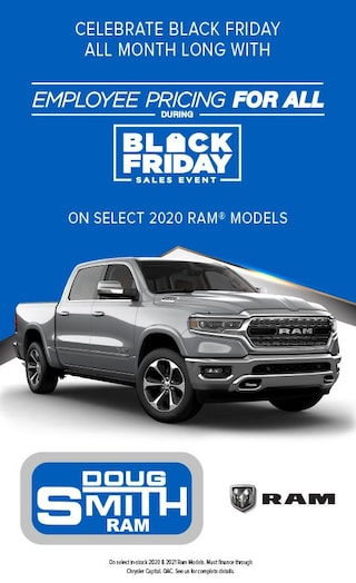 Black Friday Sales Event on select 2020 Ram models