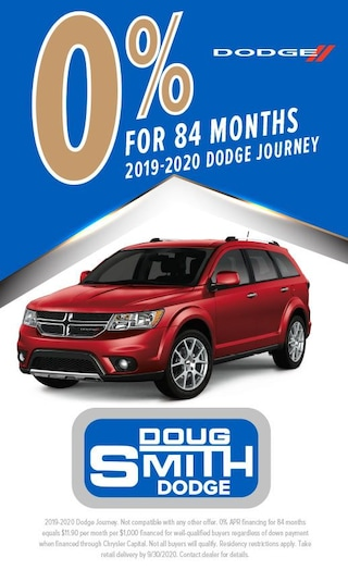 0% for 84 Months on 2019 or 2020 Dodge Journey at Doug Smith