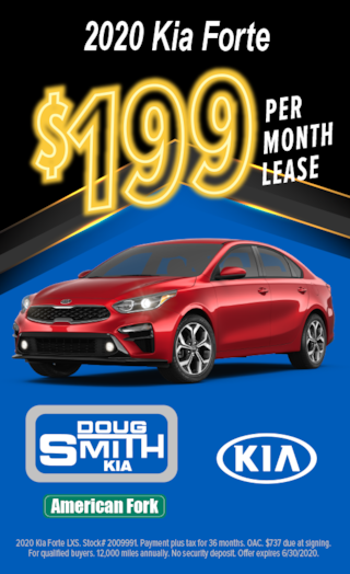 2020 KIA Forte only $199 per month Lease