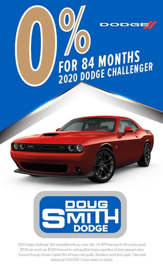 0% for 84 Months on 2020 Dodge Challenger at Doug Smith