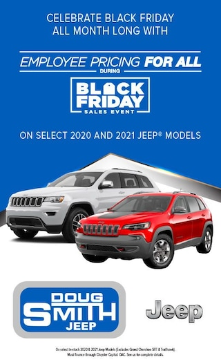 Black Friday Sales Event on select 2020 and 2021 Jeep models