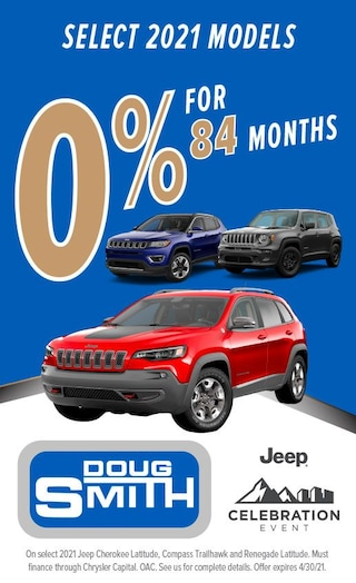 0% for 84 Months on select 2021 Jeep Models at Doug Smith