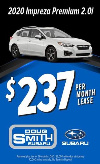 $237 per month lease on 2020 Subaru Impreza at Doug Smith