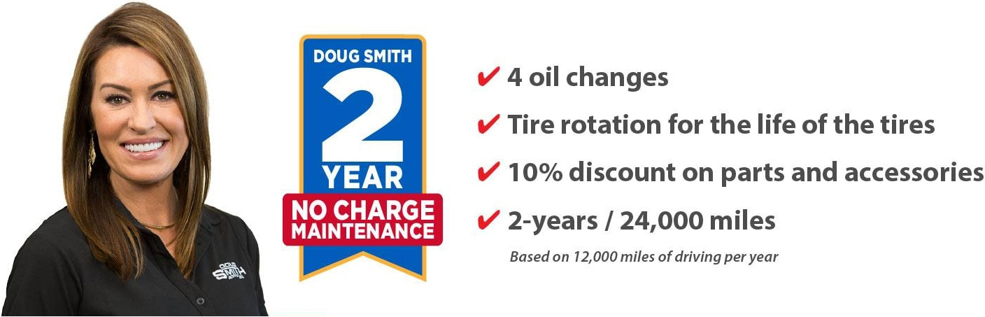 2 Year No Charge Maintenance on Every New Vehicle Purchase at Doug Smith CDJR Dealer in Spanish Fork Utah