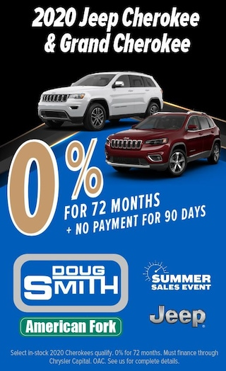 0% Financing for 72 months on 2020 Jeep Cherokee and Grand Cherokee