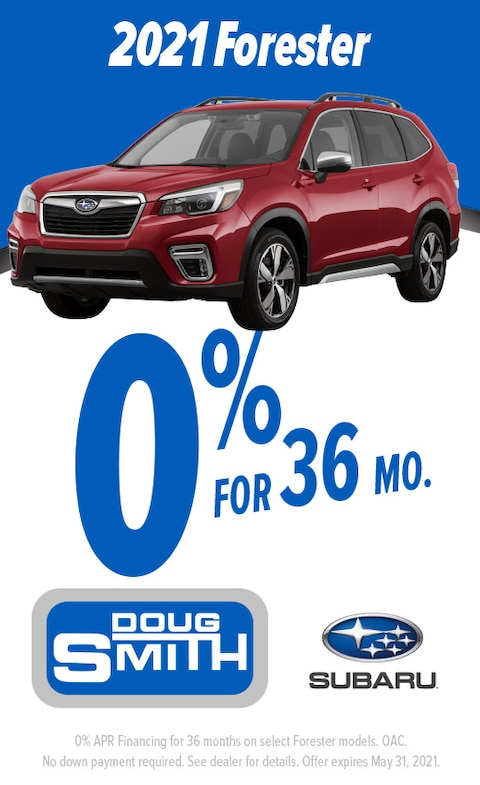 0% for 36 Months on 2021 Subaru Forester