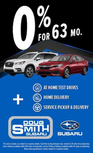 0% for 63 months on select Subaru models