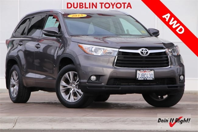 Certified Pre-Owned 2015 Toyota Highlander XLE V6 SUV T27696A for sale in Dublin, CA