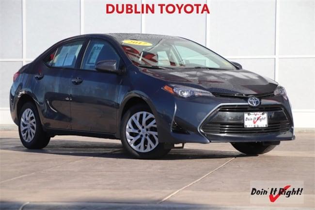 Certified Pre-Owned 2017 Toyota Corolla LE Sedan T29167A for sale in Dublin, CA