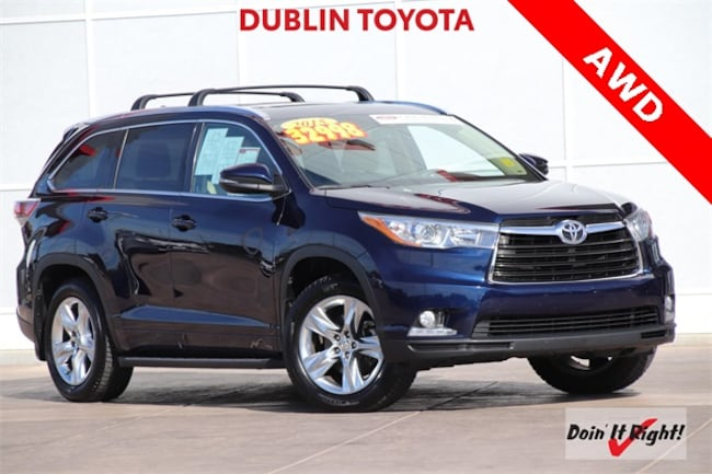 Certified Pre-Owned 2015 Toyota Highlander Limited SUV 26328A for sale in Dublin, CA