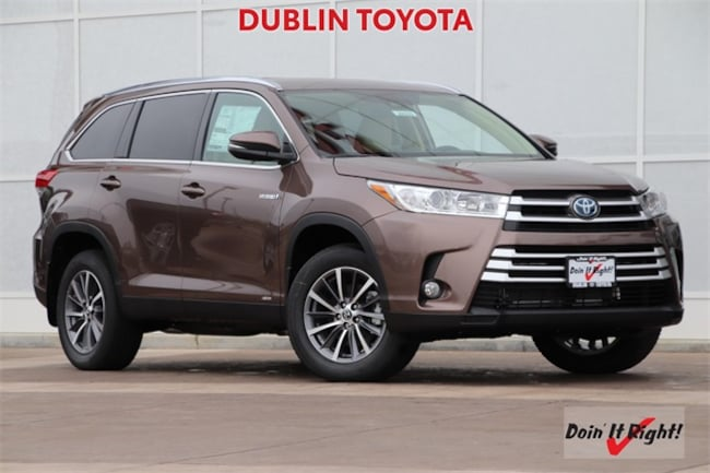 New 2019 Toyota Highlander Hybrid XLE V6 SUV T28059 for sale/lease Dublin, CA