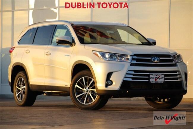 New 2019 Toyota Highlander Hybrid XLE V6 SUV T28017 for sale/lease Dublin, CA