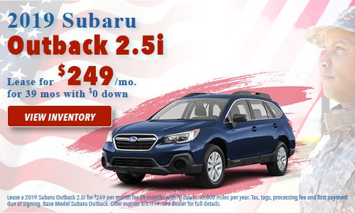 May Special - 2019 Subaru Outback