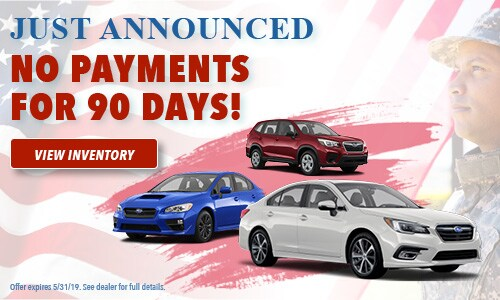 May Special - No Payments for 90 Days
