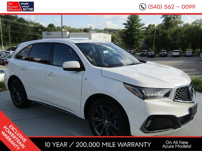 New Acura vehicle 2019 Acura MDX SH-AWD with A-Spec Package SUV for sale near you in Roanoke, VA