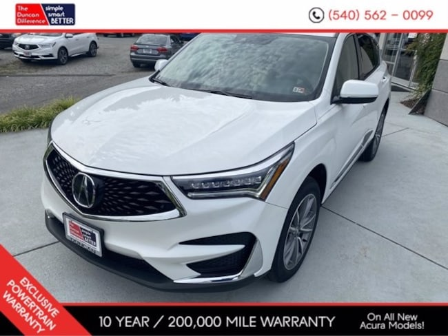 New Acura vehicle 2021 Acura RDX SH-AWD with Technology Package SUV for sale near you in Roanoke, VA