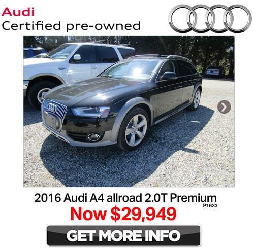 Pre Owned Audis: Certified Pre-Owned Vehicle Specials
