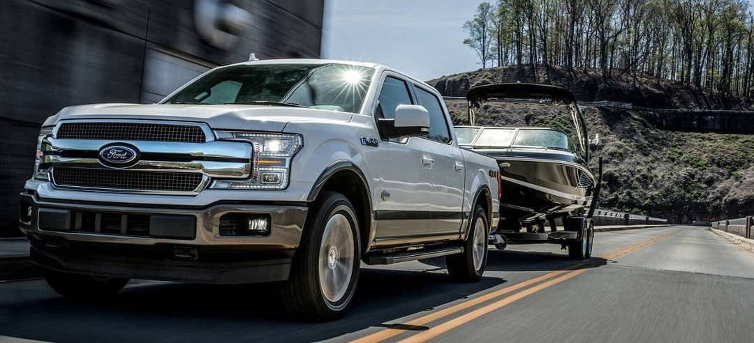 Ford F-150 towing a boat