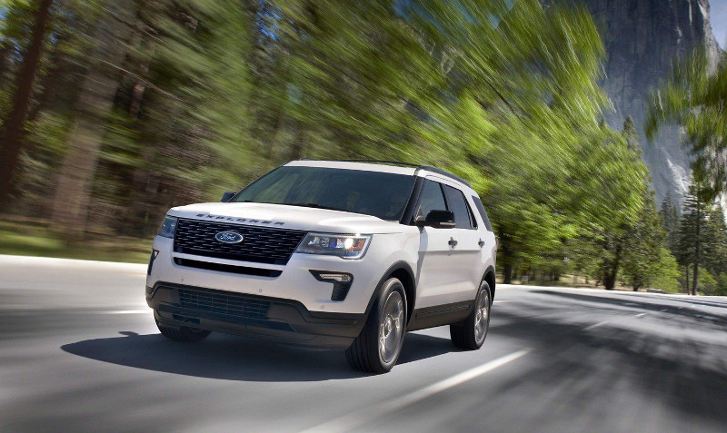 2019 Ford Explorer on road