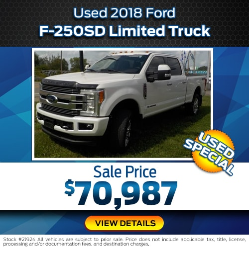 Used 2018 Ford F-250SD Limited Truck Used Special
